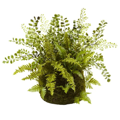 nearly natural Mixed Fern Twig & Moss Basket