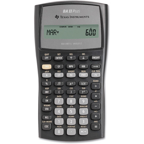 Texas Instruments BA II Plus Financial Calculator [Black]