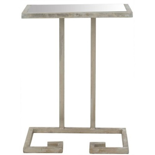 Safavieh Home Collection Murphy Silver Accent Table [Silver / Mirror]