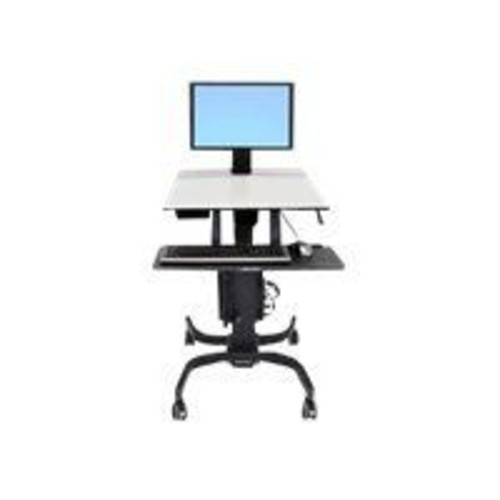 Ergotron WorkFit-C Single LD Sit-Stand Workstation, Fits Up to 24