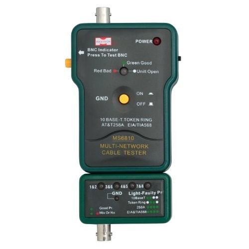 Mastech MS6810 Multi-network cable tester Detector for Coaxial Cable(BNC) UTP STP Cable