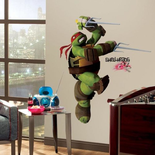 5 in. x 19 in. Teenage Mutant Ninja Turtles Ralph Peel and Stick Giant Wall Decals