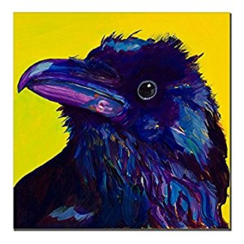 Corvus by Pat Saunders-White, 14x14-Inch Canvas Wall Art [14 by 14-Inch]