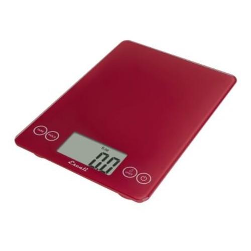 Escali 157RR Arti Glass Digital Kitchen Scale 15Lb/7Kg, Retro Red [Retro Red]