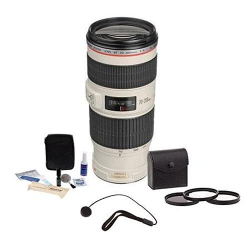 Canon EF 70-200mm f/4L IS USM Lens / Filter BUNDLE, USA 1258B002 K