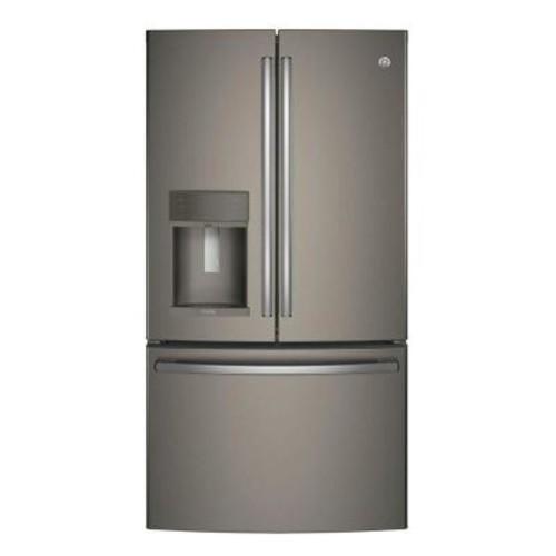 GE Profile 35.75 in. 22.2 cu. ft. Smart French Door Refrigerator with Keurig K-Cup and WiFi in Slate, Counter Depth, ENERGY STAR