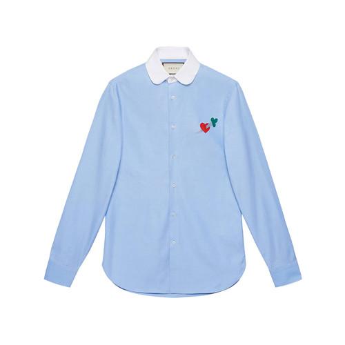 Pierced heart cotton shirt