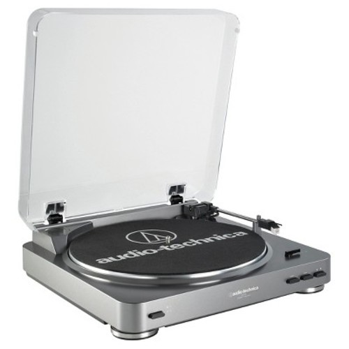 Audio Technica AT-LP60 Fully Automatic Stereo Turntable System, Silver [Silver, AT-LP60]