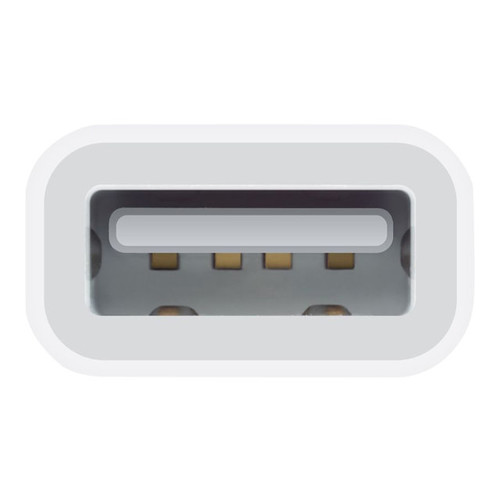 Apple Lightning to USB Camera Adapter - Lightning/USB for iPad, Camera - 1 x Lightning Male Proprietary Connector - 1 x Type A Female USBShow More + - MD821ZM/A