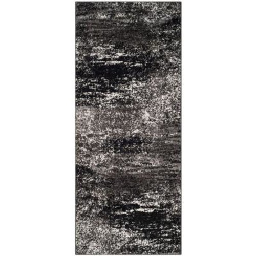 Safavieh Adirondack Silver/Black 2 ft. 6 in. x 10 ft. Runner