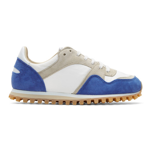 Blue & White Marathon Trail Sneakers