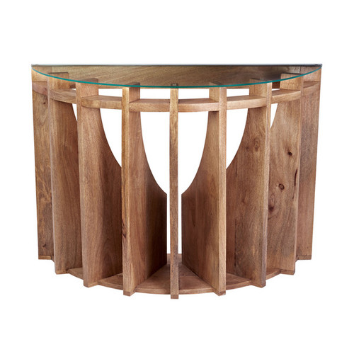 LS Dimond Home Wooden Sundial Console Table