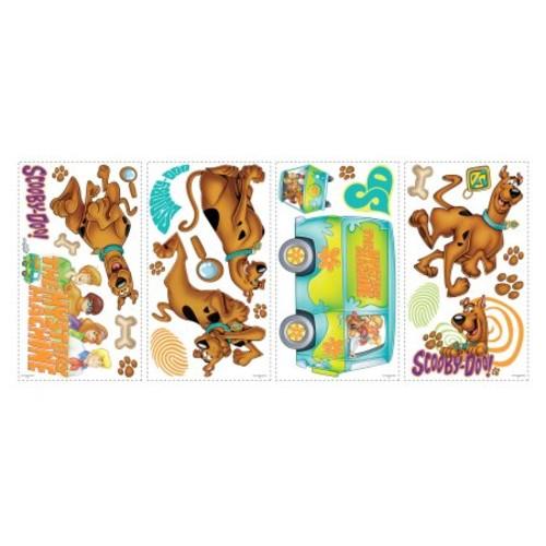 RoomMates RMK1696SCS Scooby Doo Peel & Stick Wall Decals, 26 Count