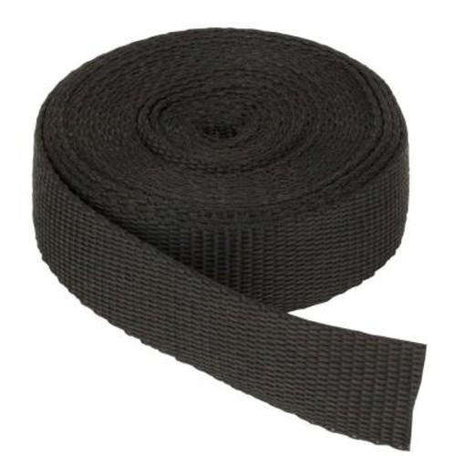 Everbilt 1 in. Black Webbing Strap