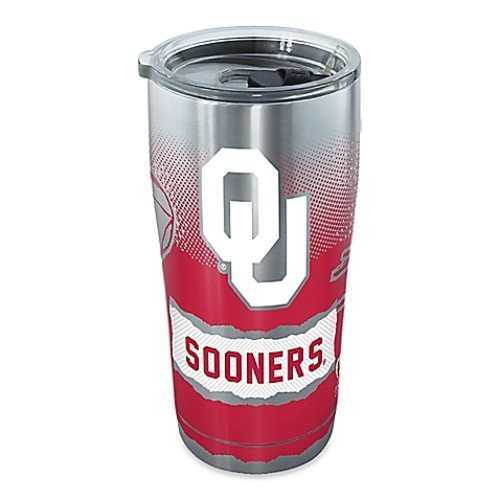 Tervis University of Oklahoma Knockout 20-Ounce Stainless Steel Tumbler with Lid