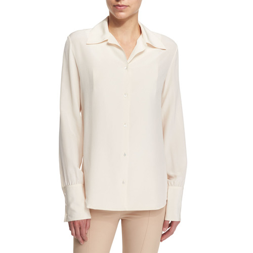 THE ROW Washed Crepe De Chine Blouse
