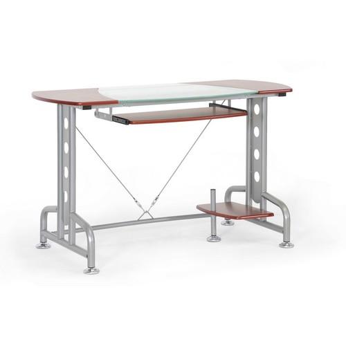 Baxton Studio Dahan Cherry Modern Computer Desk with CPU Stand