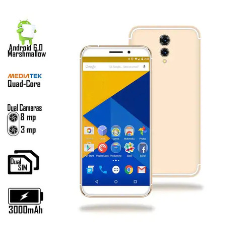Indigi 4G LTE Smartphone (White) 5.0