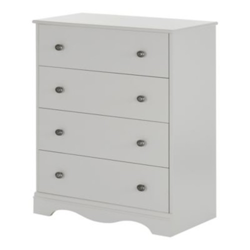 South Shore Angel 4-Drawer Chest, Soft Gray (10229)
