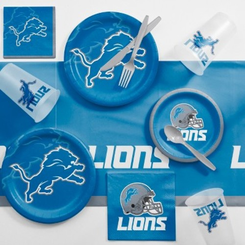 NFL Blue And Gray Detroit Lions Game Day Party Supplies Kit