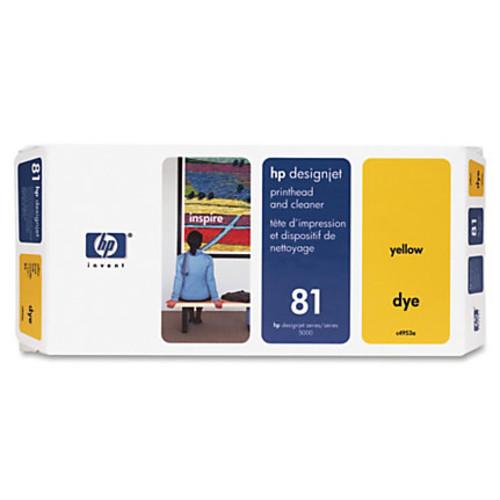 HP 81 (C4953A) Yellow Dye Printhead & Printhead Cleaner