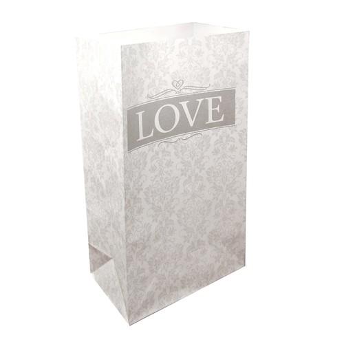 LumaBase Luminaria Bags, 24 Count Love