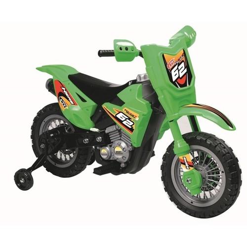 Green 6-volt Dirt Bike