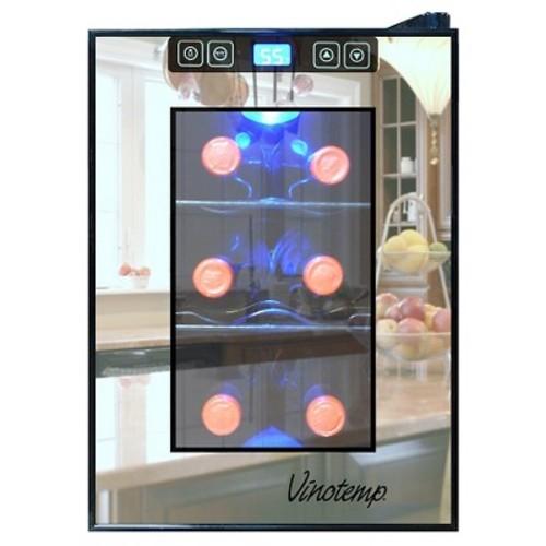 Vinotemp 6-Bottle Thermoelectric Wine Cooler - Black VT-6TSBM