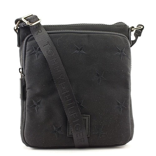Tommy Hilfiger 6933159 Canvas Messenger - Black