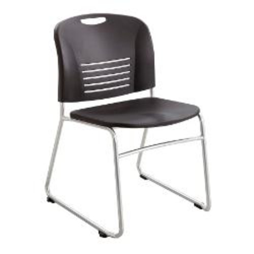 Safco Vy Stackable Chairs, Sled Base, 32 1/2