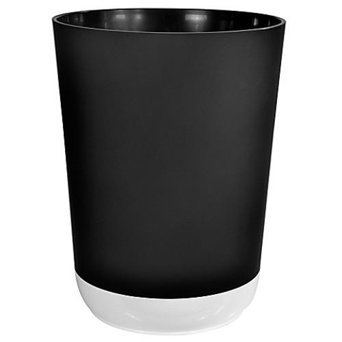 Coupe Wastebasket in Black