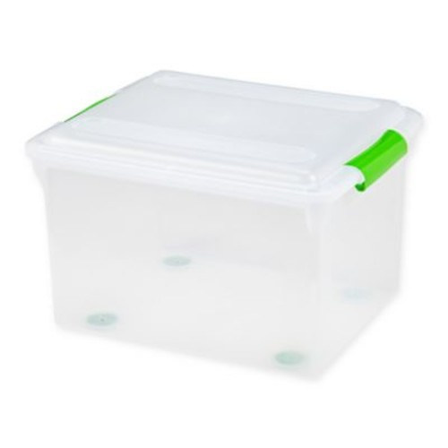 IRIS Store and Slide File Box in Clear (Set of 4)
