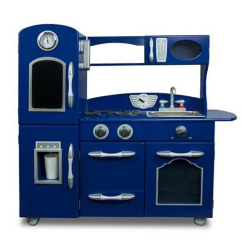 Teamson Kids Wooden Play Kitchen Set in Navy