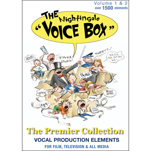 Sample CD: Nightingale Voice Box 1 and 2 - Wide Range of Human Vocals and Emotions - 2 CD Audio