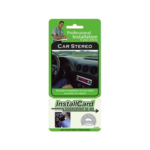 InstallCard: In-dash Stereo Prepaid professional in-dash receiver installation