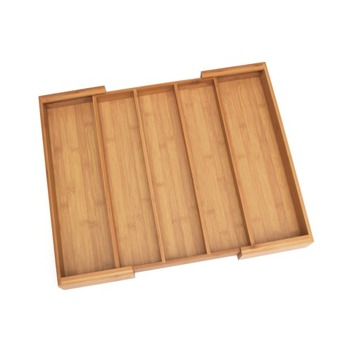 Lipper International Bamboo & Cork Expandable Flatware Organizer