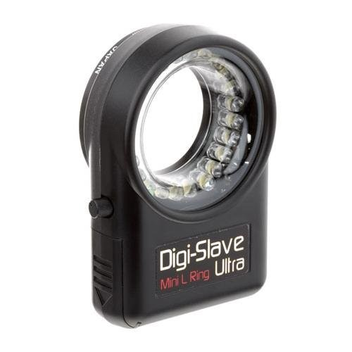 Digi-Slave Mini L-Ring Ultra, Lightweight Continuous Light Ring for Close-Up Photography, for Lens Threads up to 52mm.