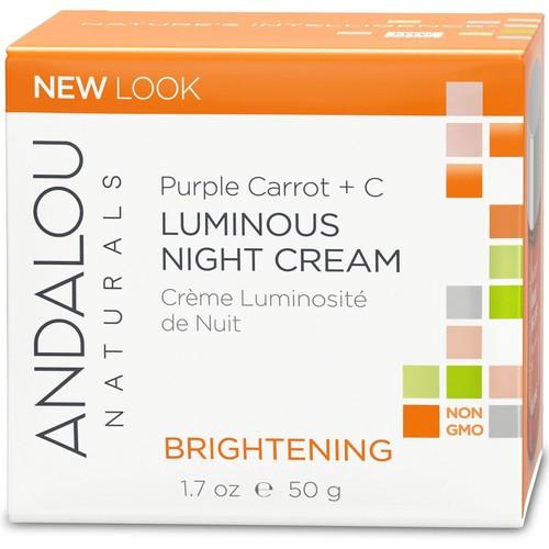 Purple Carrot + C Luminous Night Cream Andalou Naturals 1.7 Cream