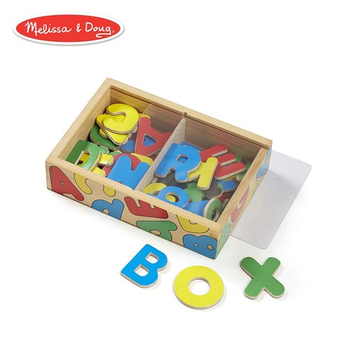 Melissa & Doug 52 Wooden Alphabet Magnets in a Box - Uppercase and Lowercase Letters [Letters]