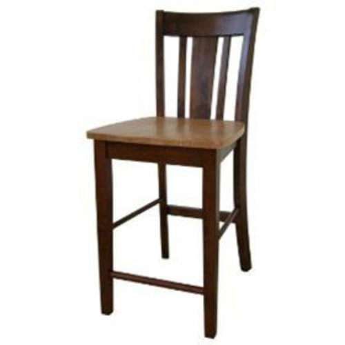 Whitewood S58-102 Dining Essentials Solid Wood Counter Height Stool - Cinnamon - Espresso