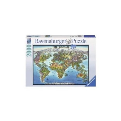 Ravensburger World Map Jigsaw Puzzle (2000-Piece) Multi-Colored