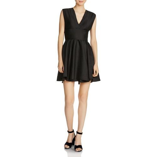 MAJE Revely Banded A-Line Dress