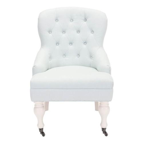 Safavieh Madeline Arm Chair in Robin Egg Blue