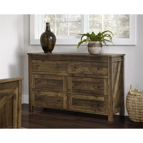 Altra Furniture Farmington 6-Drawer Century Barn Pine Dresser