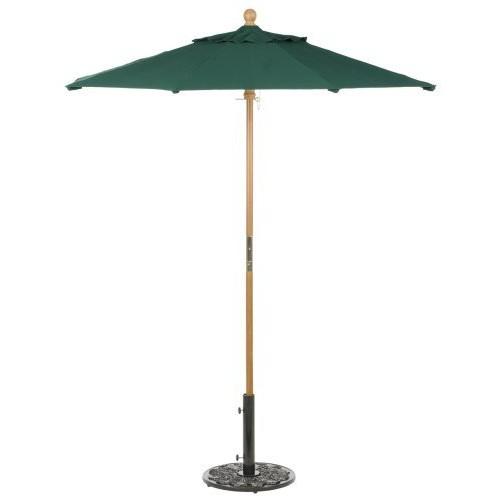 Oxford Garden Sunbrella 6-Foot Market Umbrella, Hunter Green [Hunter Green, 6 ft.]