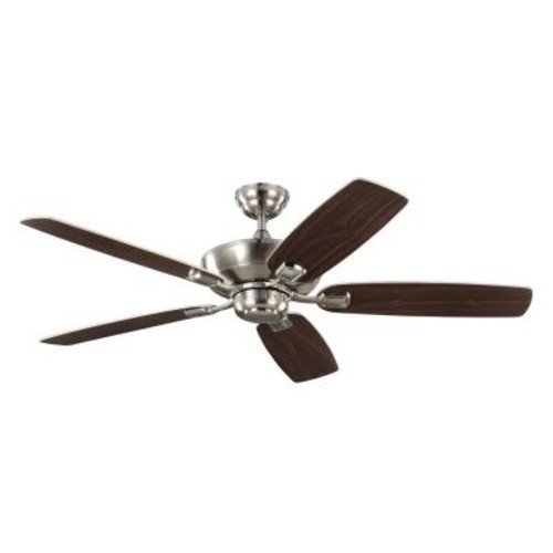 Monte Carlo Colony Max 52 in. Indoor/Outdoor Brushed Steel Ceiling Fan