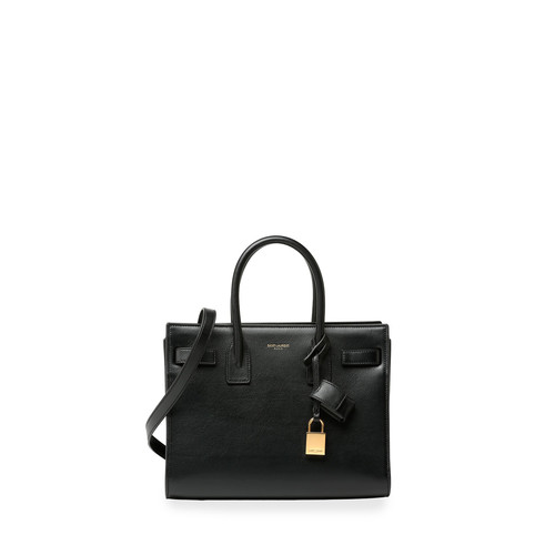 SAINT LAURENT Sac De Jour Baby Satchel Bag, Black