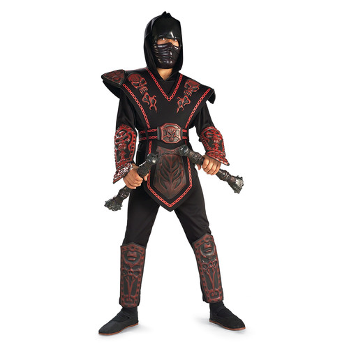 Boys Red Skull Warrior Ninja Halloween Costume
