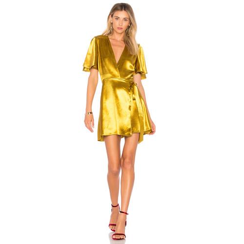 Privacy Please Brisco Dress in Mustard Metallic