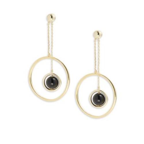 Noir - Chain Drop Earrings